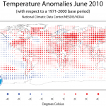 Temperature Anomalies June, 2010